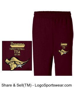 TTSA European Division Dragoons Team Sweatpants Design Zoom