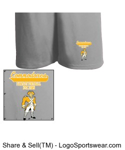TTSA Jolly Roger Division Commodores Athletic Shorts Design Zoom