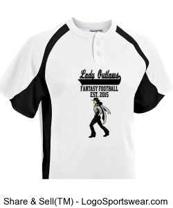 TTSA Special Commemorative Lady Outlaws Fantasy Football Baseball Jersey Design Zoom