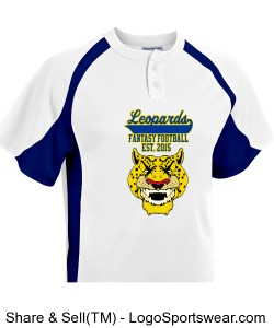 TTSA Amazon Division Leopards Baseball Jersey Design Zoom