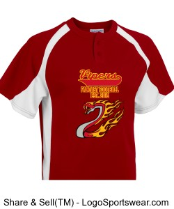 TTSA Amazon Division Vipers Baseball Jersey Design Zoom