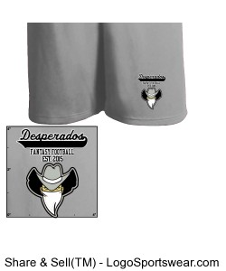 TTSA American Division Desperados Athletic Shorts Design Zoom